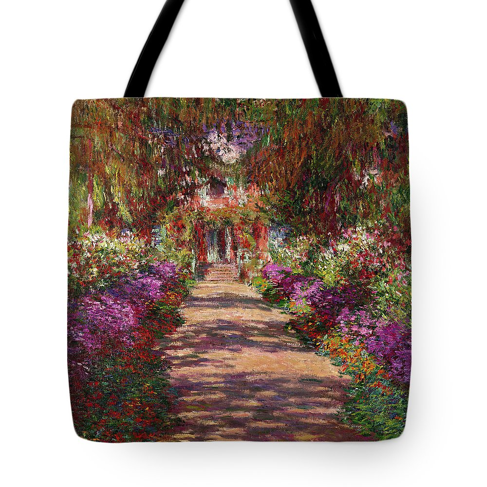 A Pathway In Monets Garden Giverny Tote Bag for Sale by Claude Monet