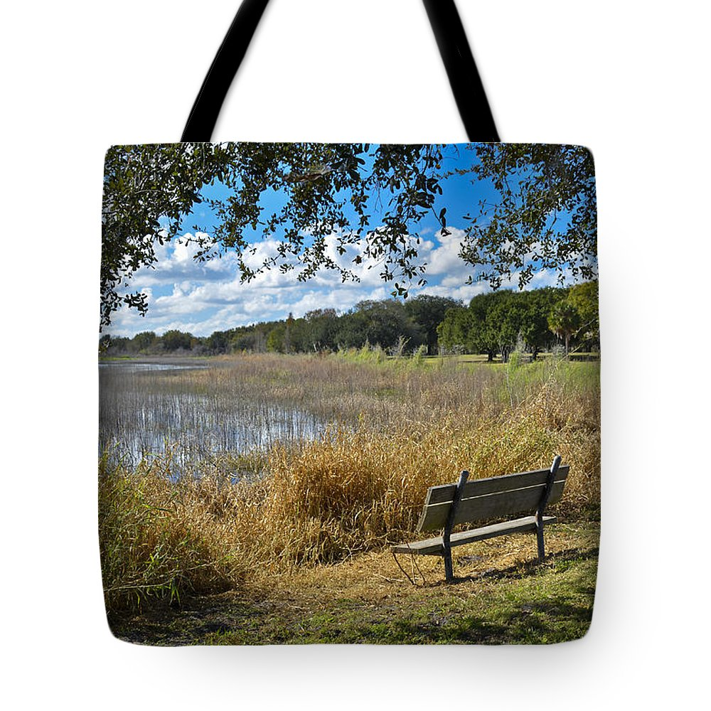 Florida Landscape Tote Bag featuring the photograph A Peaceful Place by Carolyn Marshall