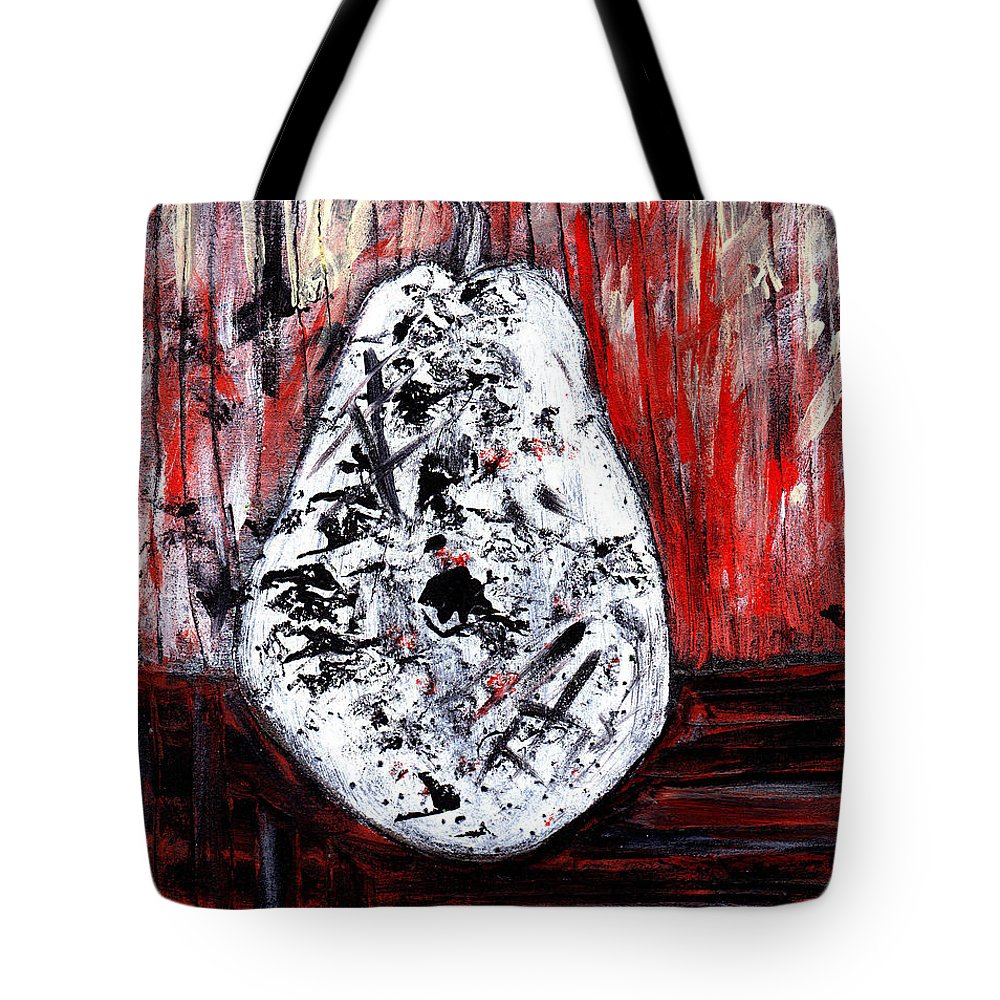 Pear Tote Bag featuring the painting A Pear-antly by Wayne Potrafka