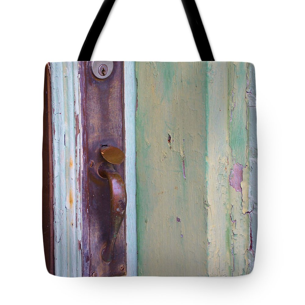 Doors Tote Bag featuring the photograph A Peeling by Jan Amiss Photography