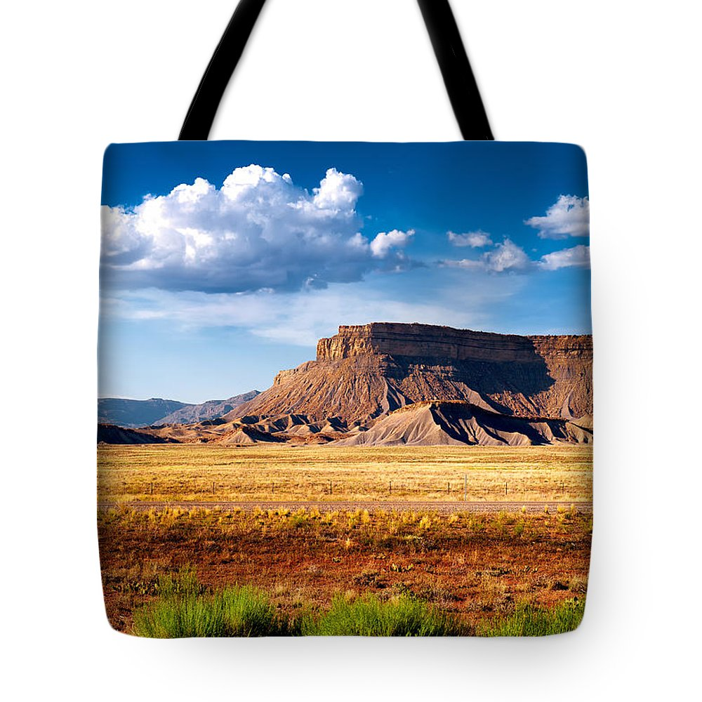 Landscape Tote Bag featuring the photograph A Perfect Day Out West by Renee Sullivan