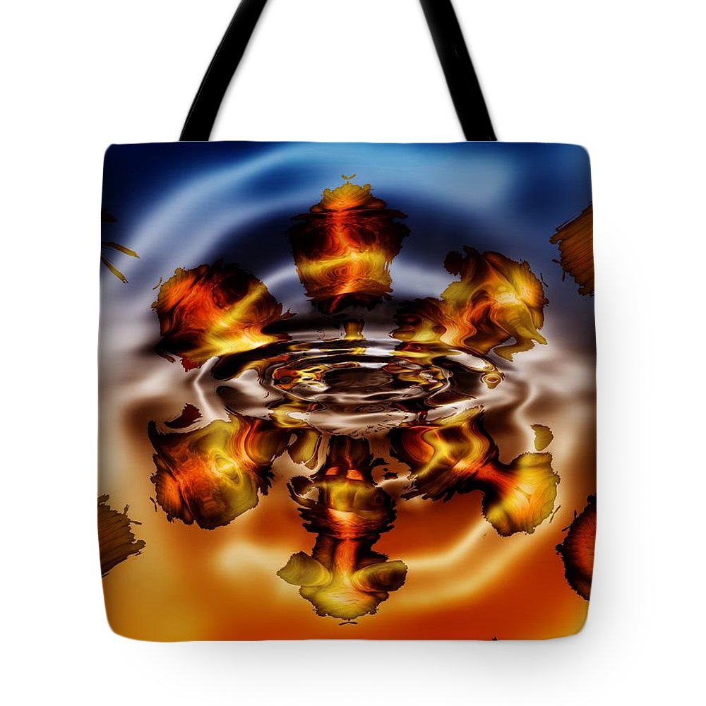 Gold Tote Bag featuring the digital art A Piece Of My Soul by Robert Orinski
