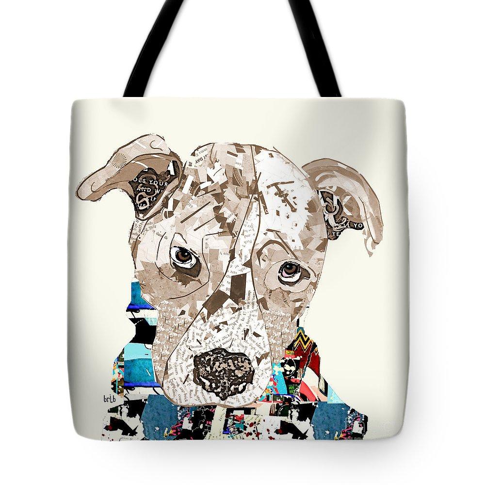 Pitbull Paintings Tote Bags