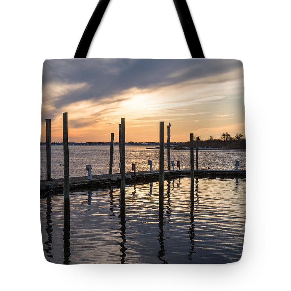 Sea Bright Tote Bag featuring the photograph A Place on the River by Kristopher Schoenleber