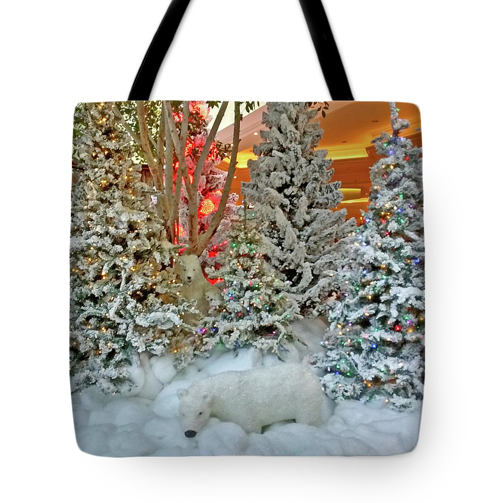 Photography Tote Bag featuring the photograph A Polar Bear Christmas by Marian Bell