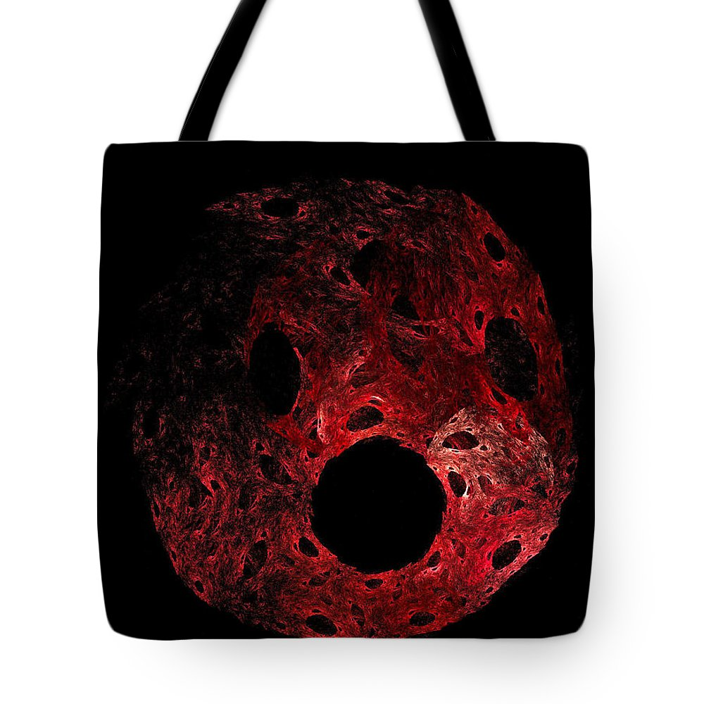 Expressionism Tote Bag featuring the digital art A Portrait Of Oh by Rein Nomm