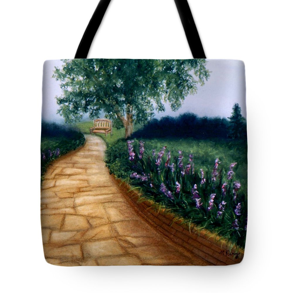 Landscape Tote Bag featuring the painting A Quiet Place by Melissa Joyfully