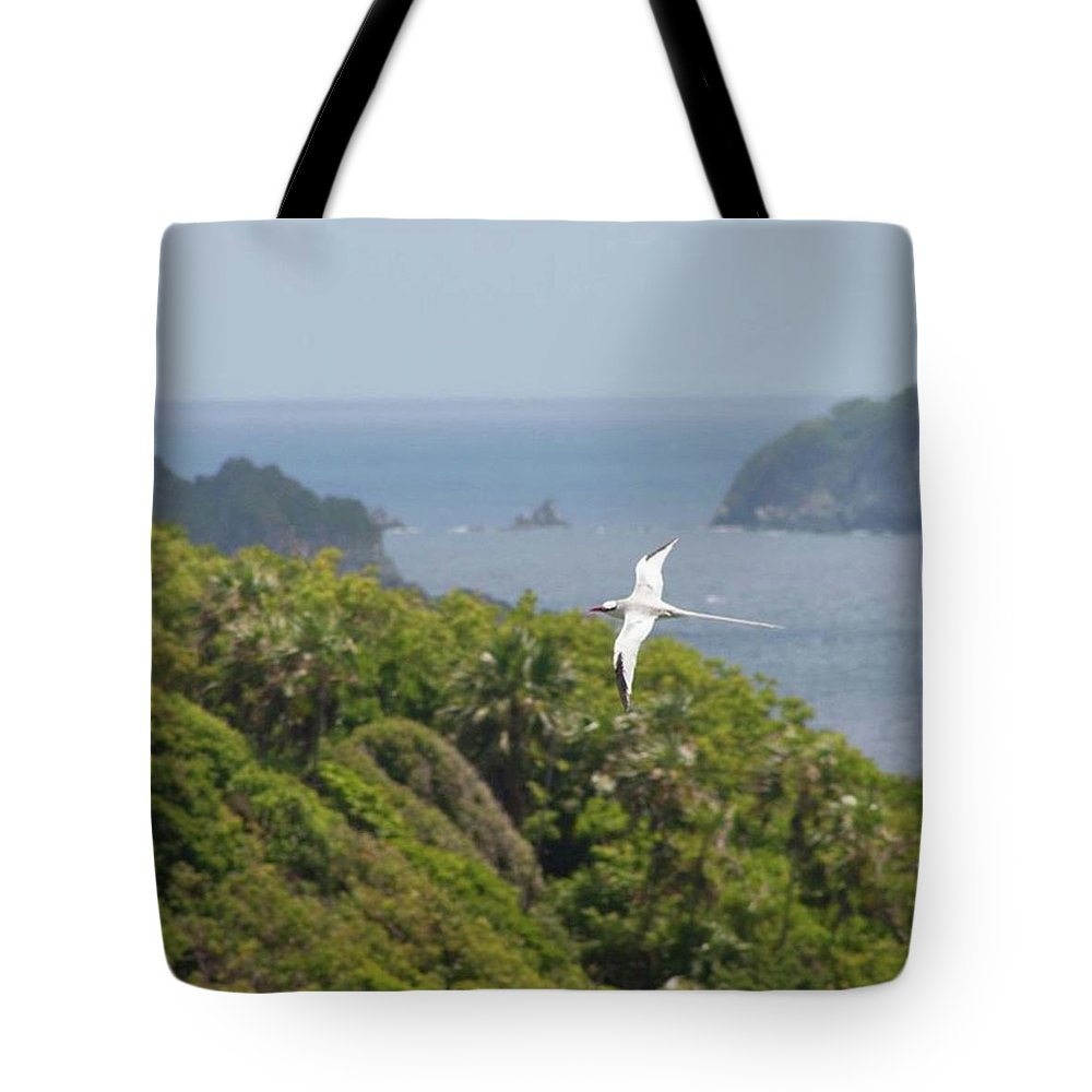 Tropicbird Tote Bag featuring the photograph A Red-billed Tropicbird (phaethon by John Edwards