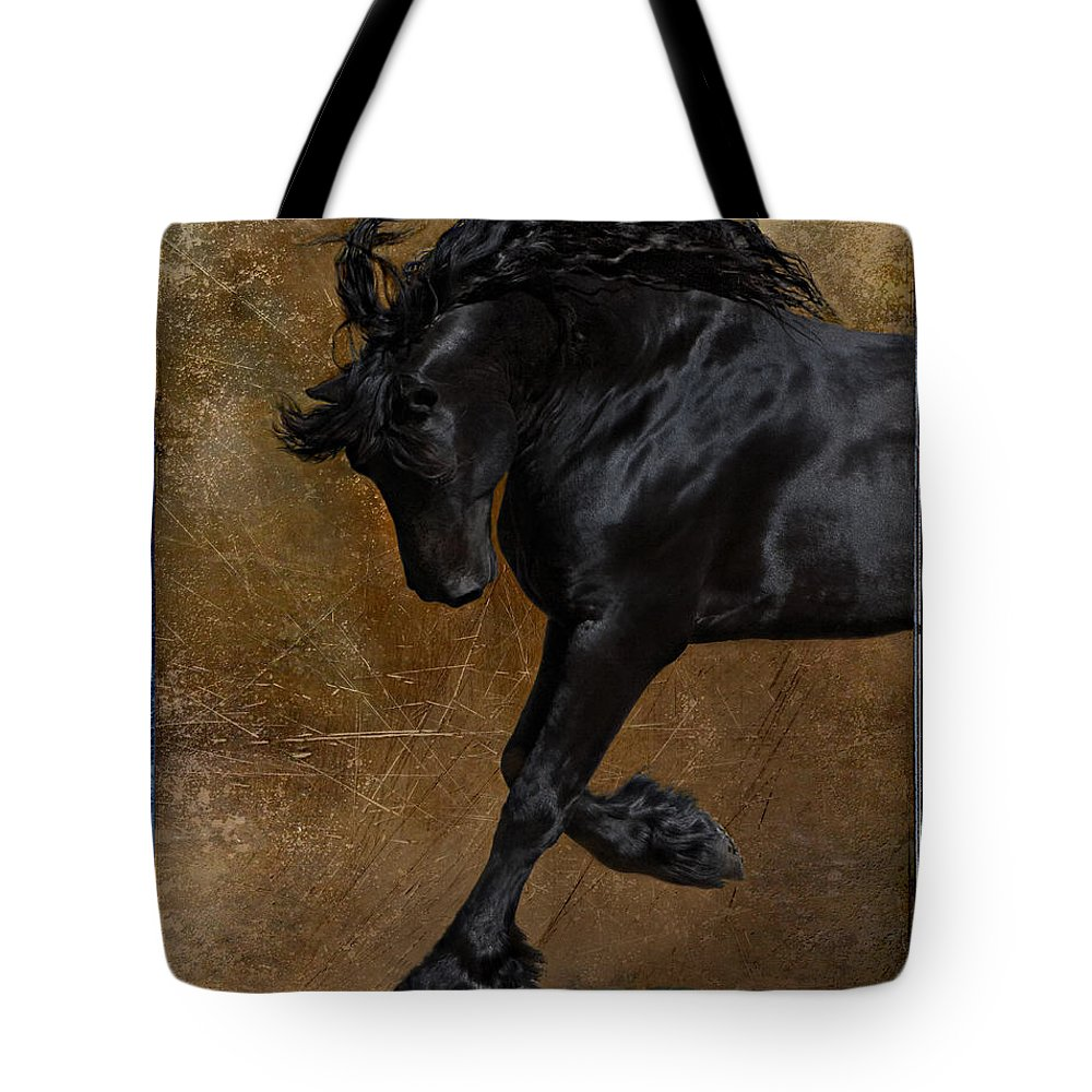 Horse Tote Bag featuring the photograph A Regal Bow by Jean Hildebrant