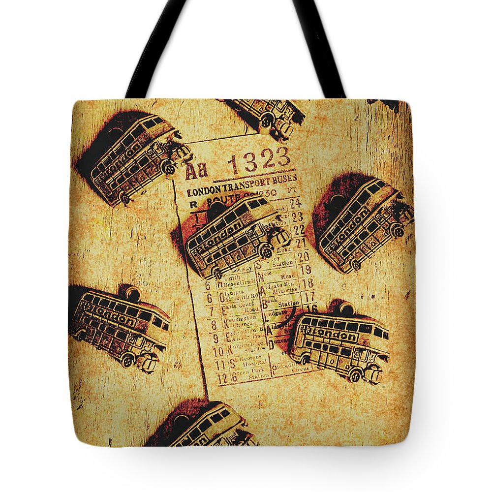 Bus Tote Bag featuring the photograph A Return To Old London by Jorgo Photography - Wall Art Gallery
