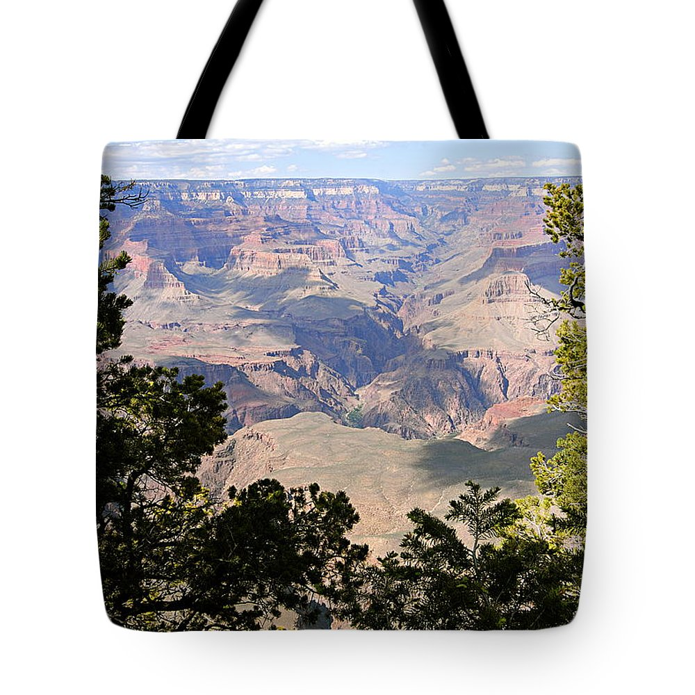 Grand Canyon National Park Tote Bag featuring the photograph A River Runs Through It by Larry Ricker