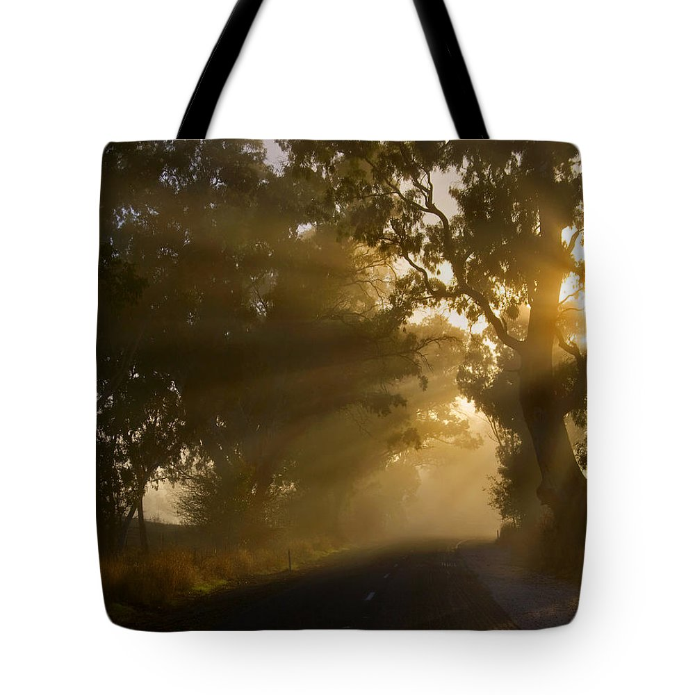 Highway Tote Bag featuring the photograph A Road Less Traveled by Mike Dawson