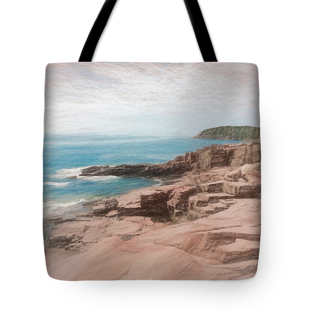 Mount Desert Island Tote Bag featuring the photograph A Coastal Scene by John M Bailey