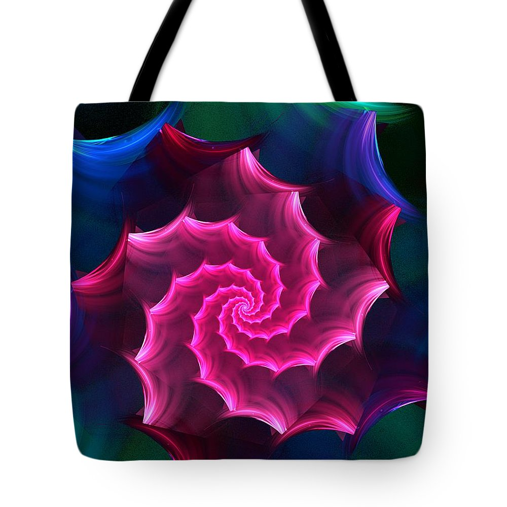Fantasy Tote Bag featuring the digital art A Rose By Any Other Name by David Lane
