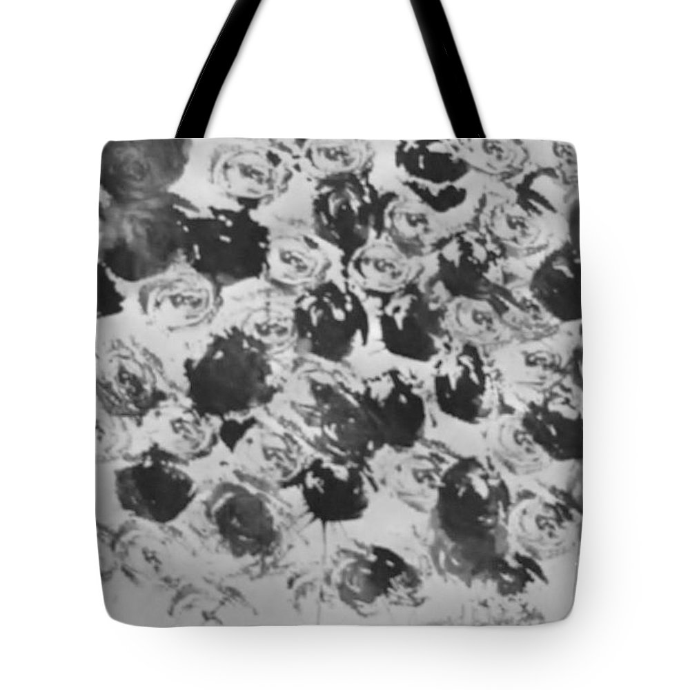 Abstract Tote Bag featuring the painting A Rose Is A Rose by Jamey Balester