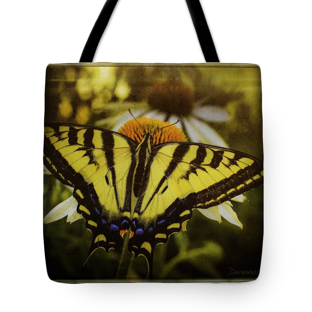Butterfly Tote Bag featuring the photograph A Safe Place To Land by Deanna Sandquist