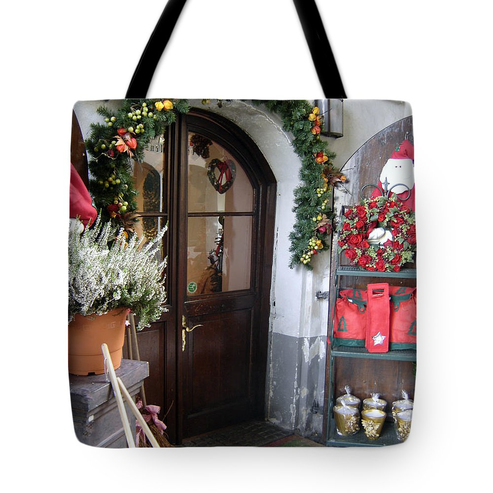 Santa Tote Bag featuring the photograph A Salzburg Christmas by Mary Rogers