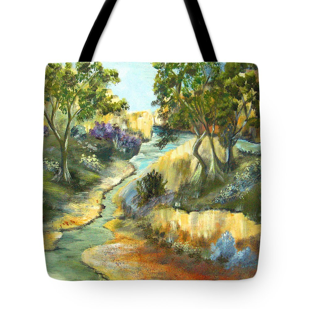 Landscape Tote Bag featuring the painting A Sandy Place To Rest by Ruth Palmer