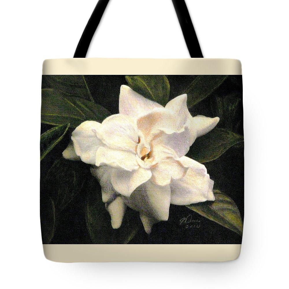 Gardenia Drawings Tote Bags