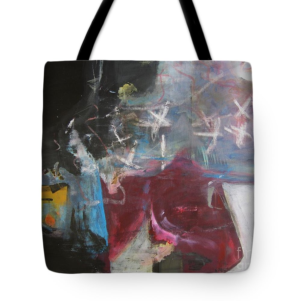 Abstract Paintings Tote Bag featuring the painting A Short Story by Seon-Jeong Kim