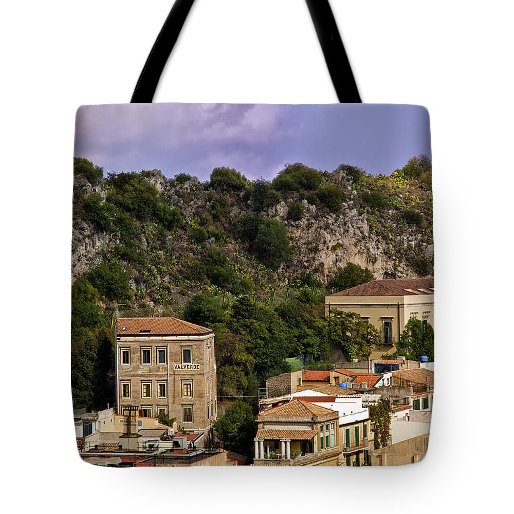 Sicily Tote Bag featuring the photograph A Sicily View by Madeline Ellis