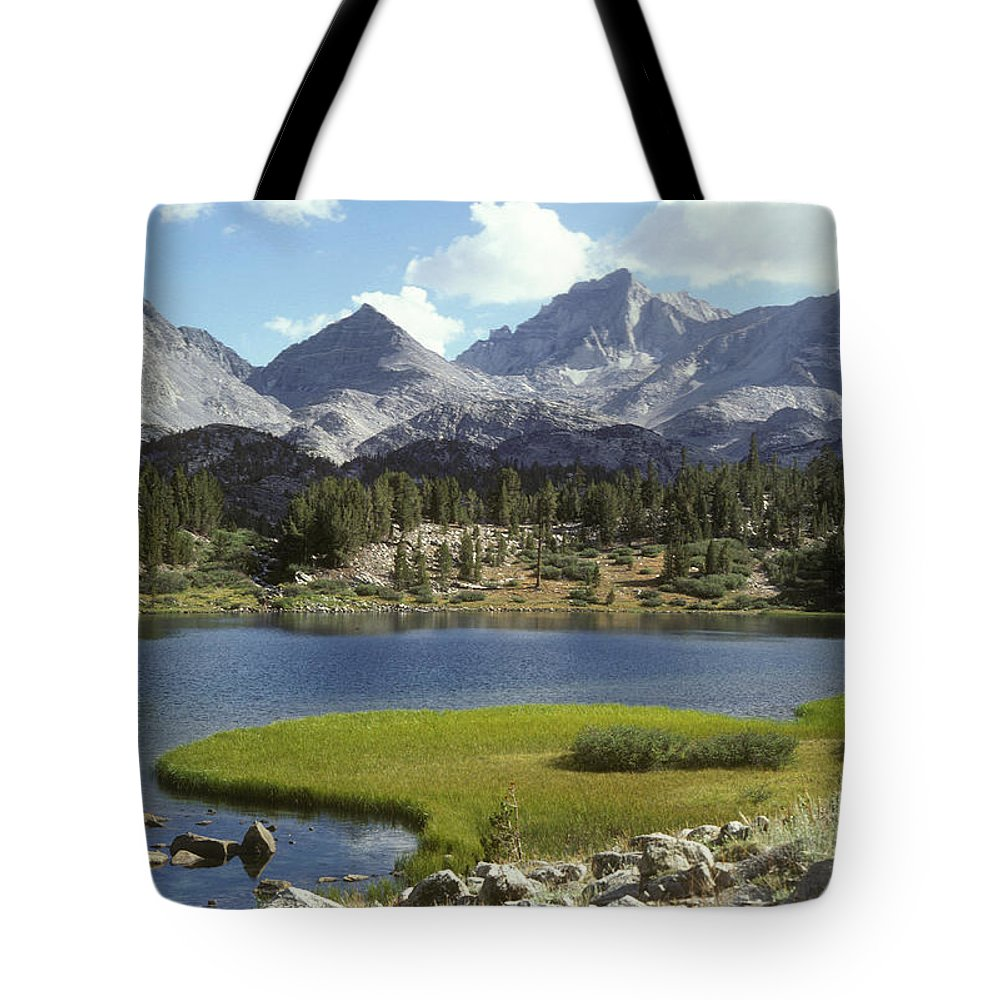 Color Image Tote Bag featuring the photograph A Sierra Mountain Lake In Summer by Stephen Sharnoff