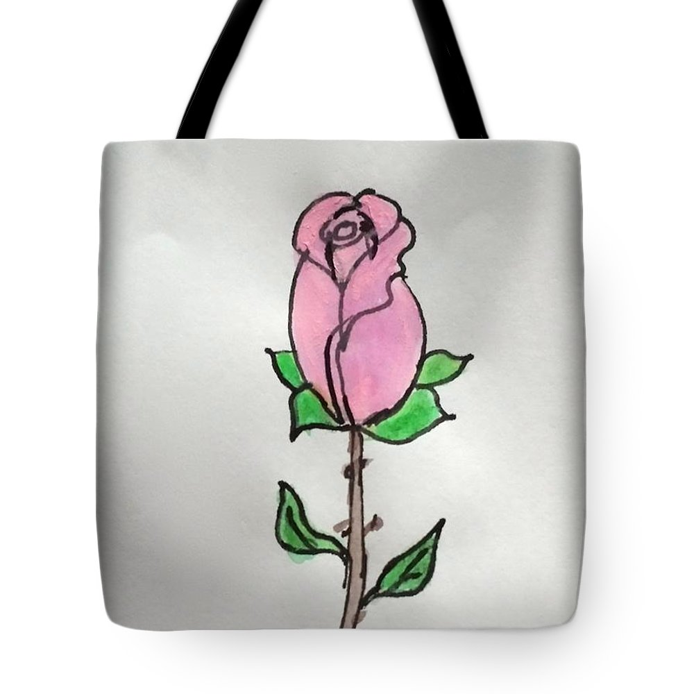 Mother's Day Tote Bag featuring the painting A Single Rose by Margaret Welsh Willowsilk