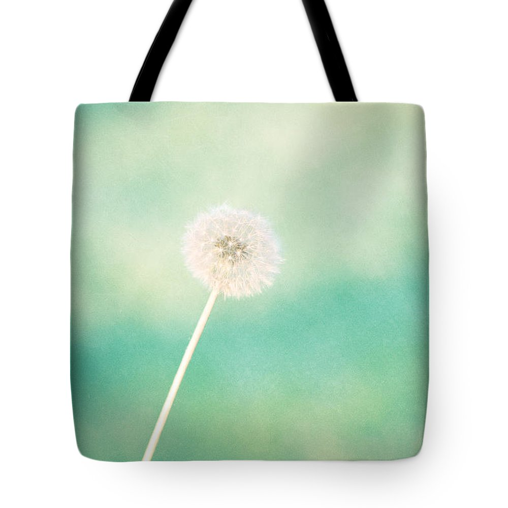Dandelion Tote Bag featuring the photograph A Single Wish by Amy Tyler