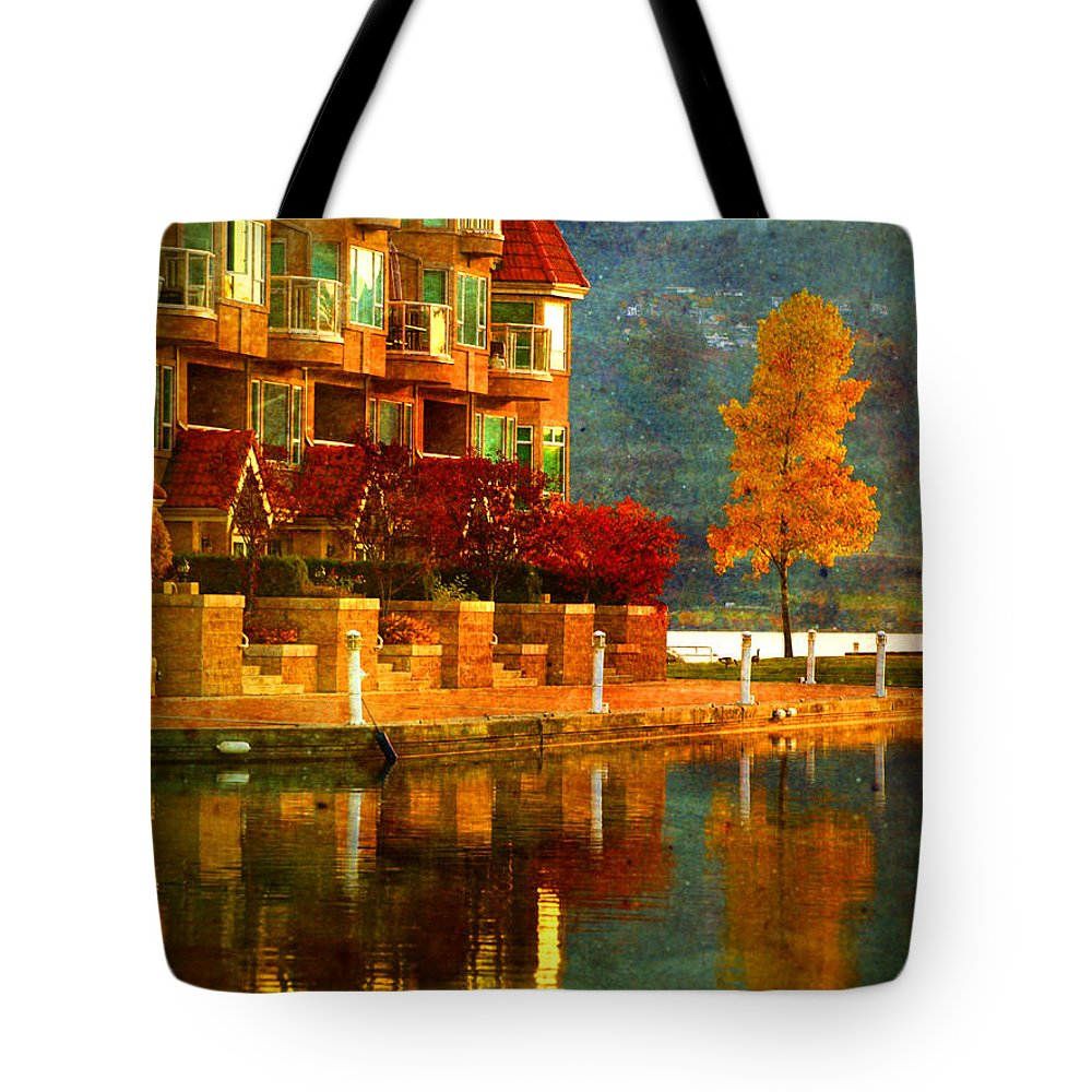 Tree Tote Bag featuring the photograph A Single Yellow Tree by Tara Turner