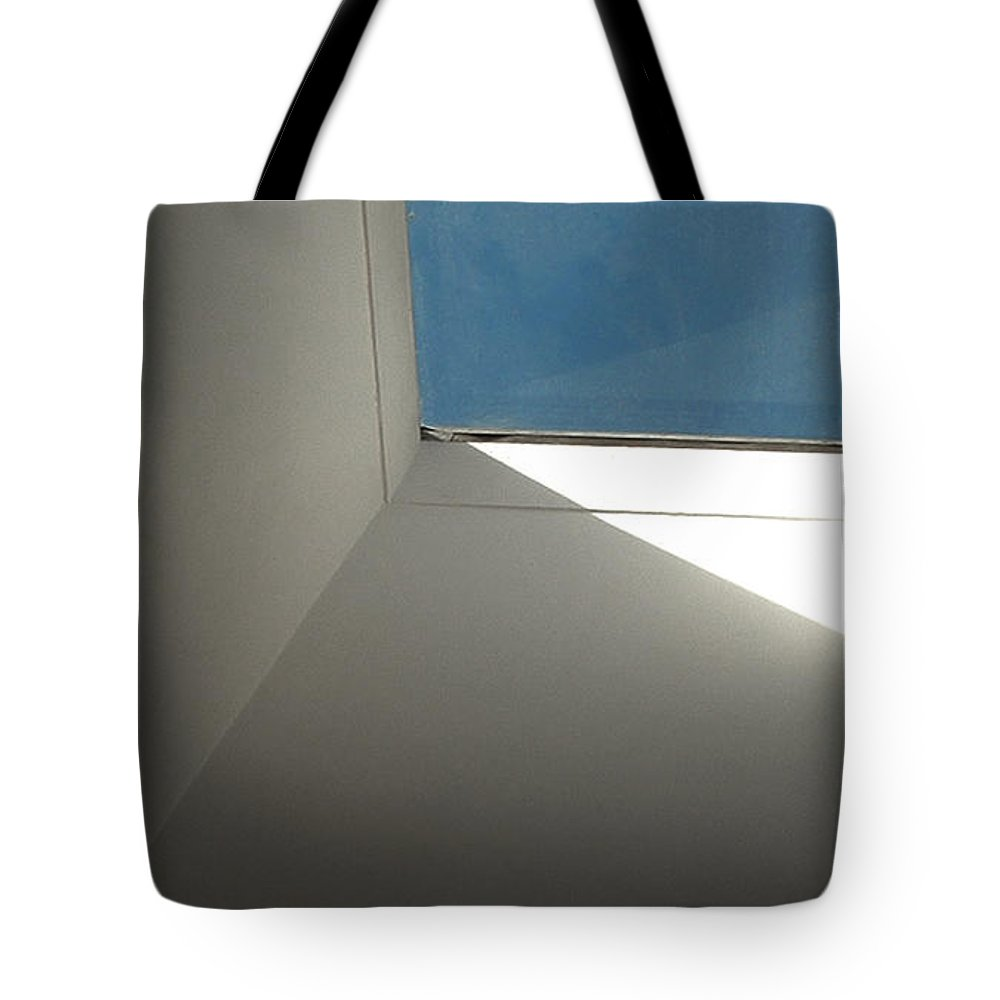 Fenestration Tote Bag featuring the photograph A Skylight Shaft by Stan Magnan