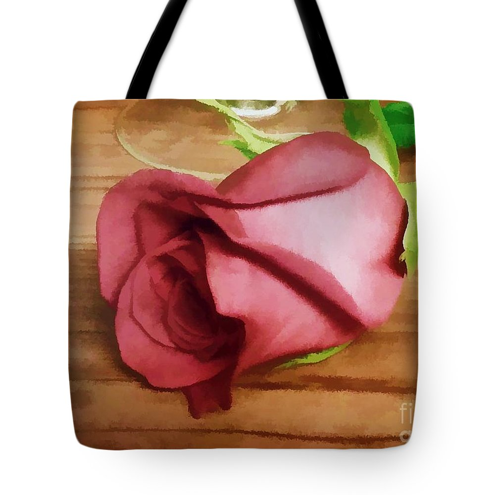 Special Tote Bag featuring the photograph A Special Rose by Renee Trenholm