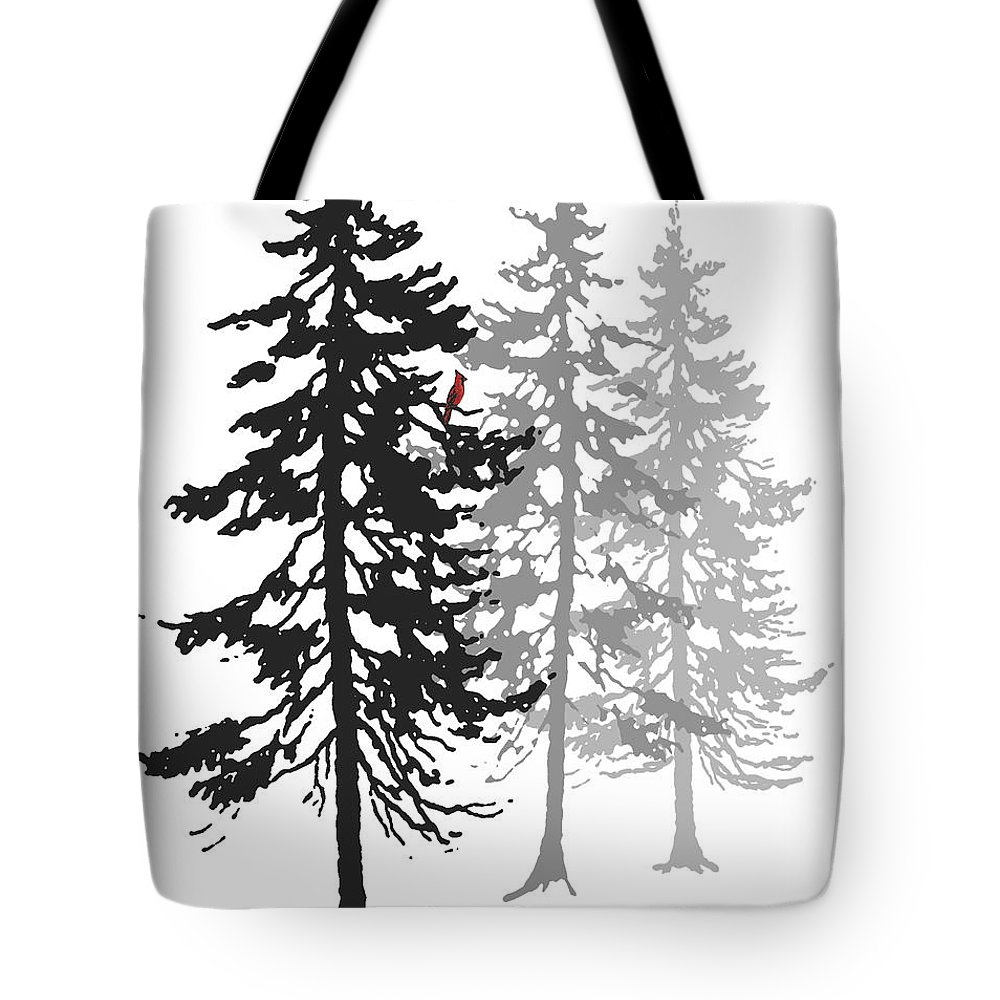 Cardinal Tote Bag featuring the digital art A Splash Of Color by Stacey May