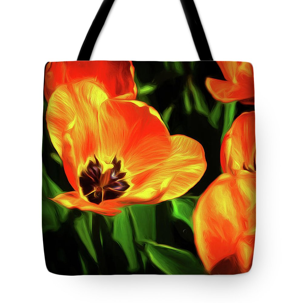 Tulip Tote Bag featuring the photograph A Splash Of Color by Tom Mc Nemar