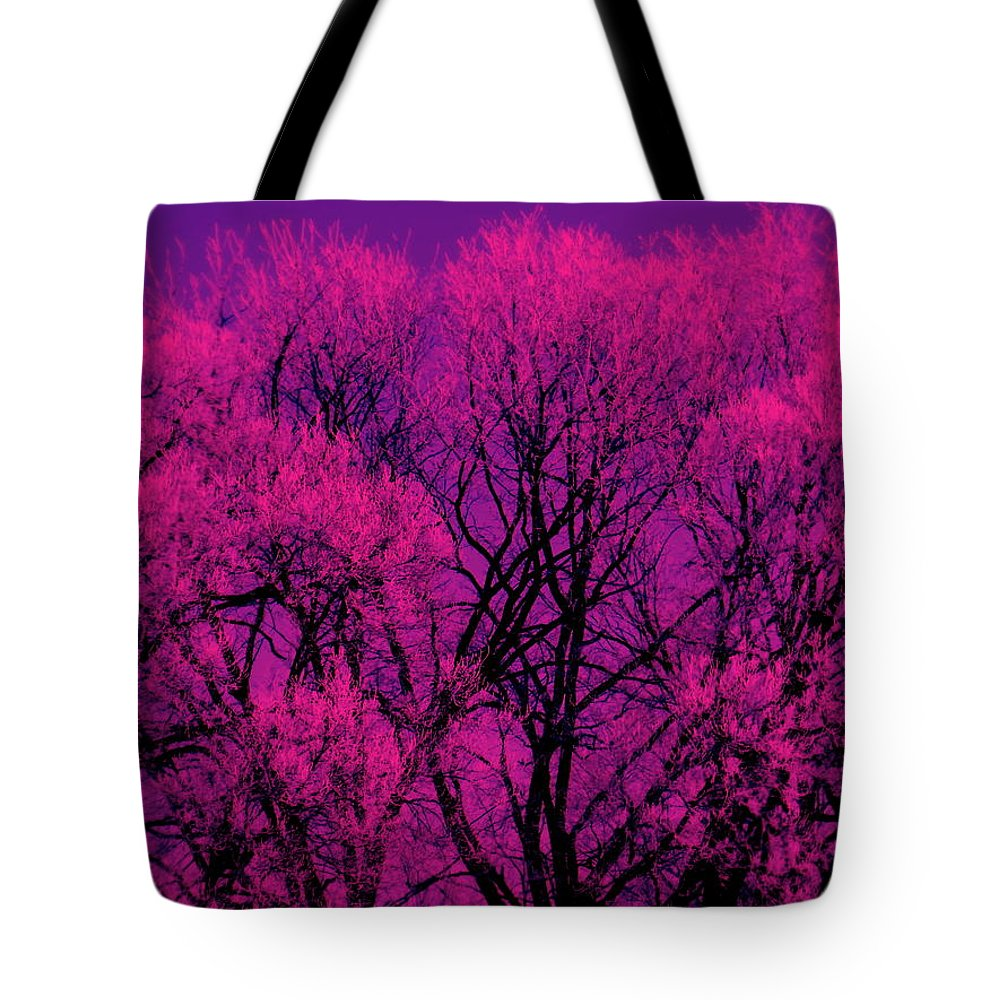A Splash Of Purple Tote Bag featuring the photograph A Splash Of Purple by Ed Smith