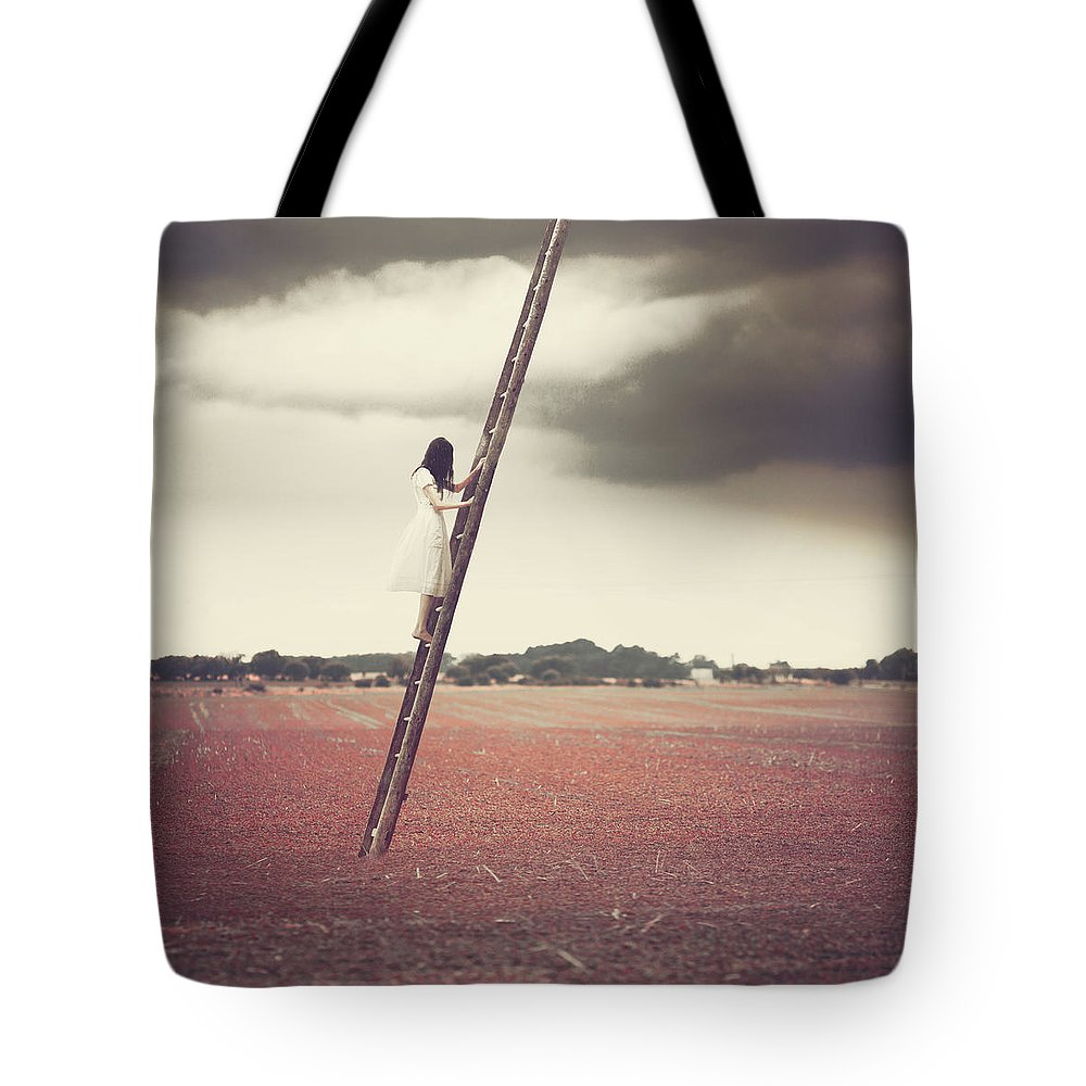 Tote Bag featuring the photograph A Stairway To.. by Anka Zhuravleva