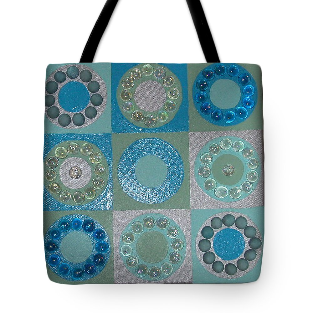 Circles Tote Bag featuring the painting A Stone's Throw by Gay Dallek