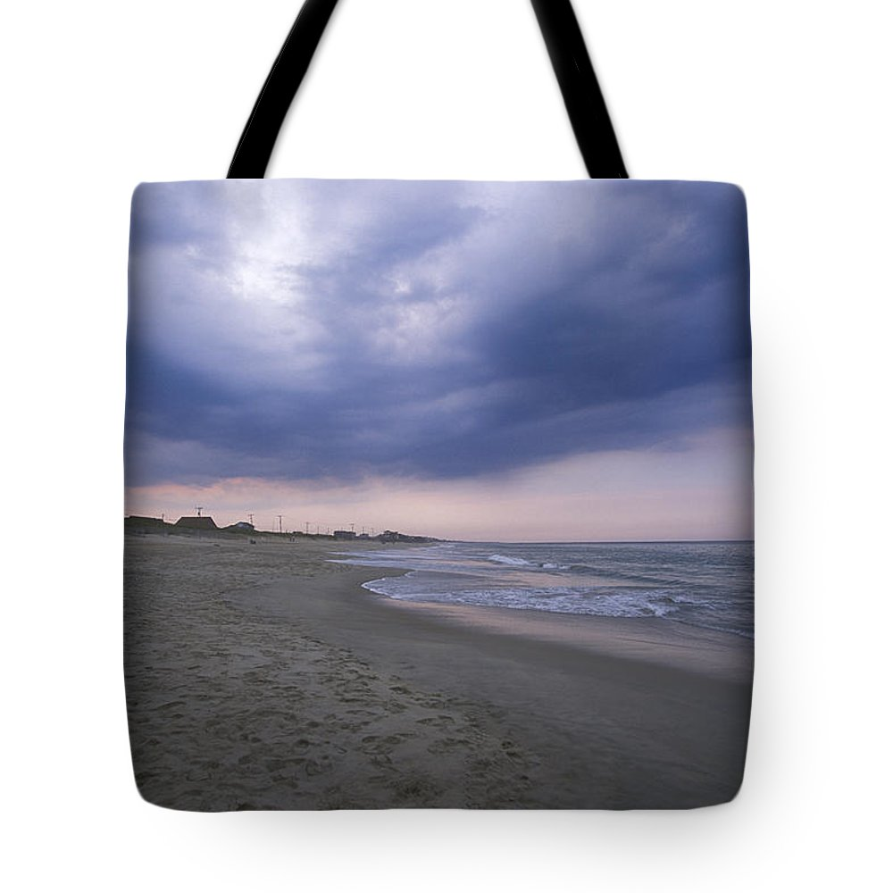 Storm Tote Bag featuring the photograph A Storm Sky Gathers At Kitty Hawk by Stephen Alvarez