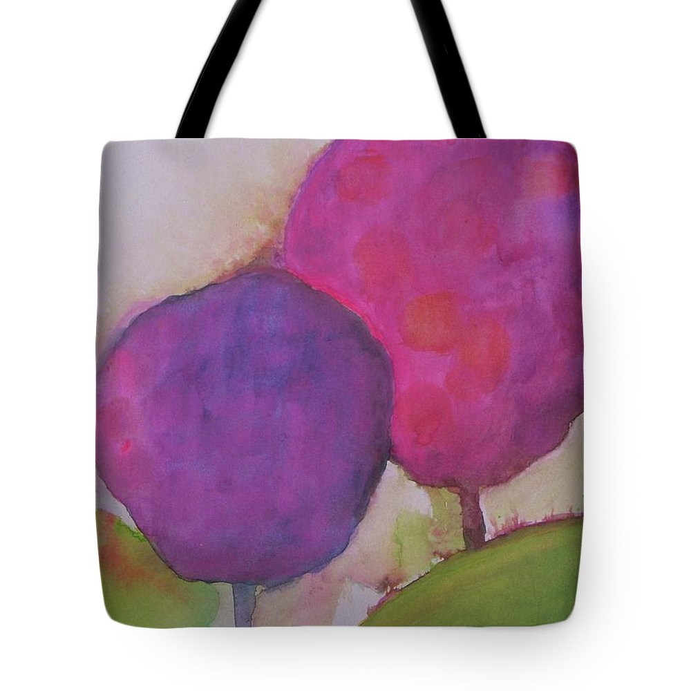 Abstract Landscape Tote Bag featuring the painting A Summer Day by Vesna Antic