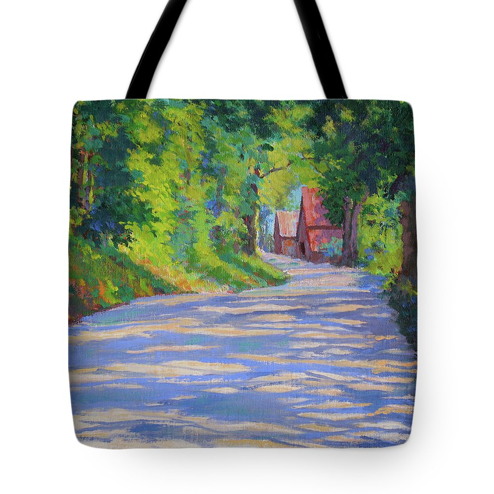 Landscape Tote Bag featuring the painting A Summer Road by Keith Burgess