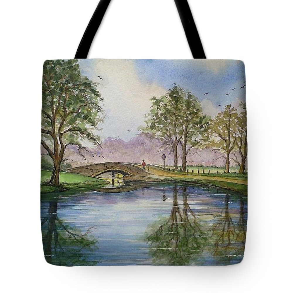 Scenery Tote Bag featuring the painting A Sunday Stroll by Andrew Read
