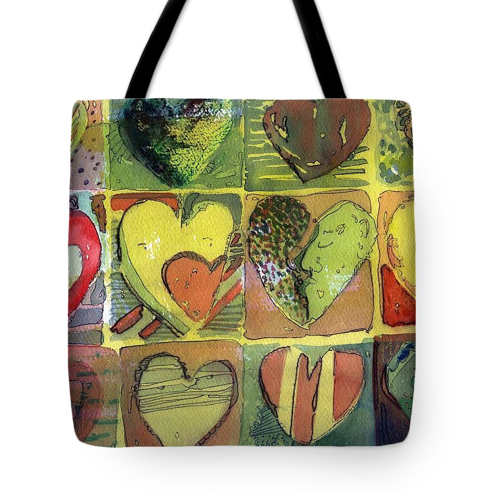 Valentine Tote Bag featuring the painting A Sunny Valentine by Mindy Newman