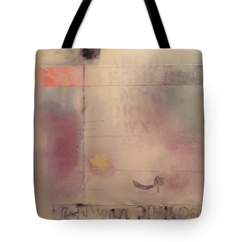 Abstract Tote Bag featuring the painting A Thought Of Stillness by W Todd Durrance