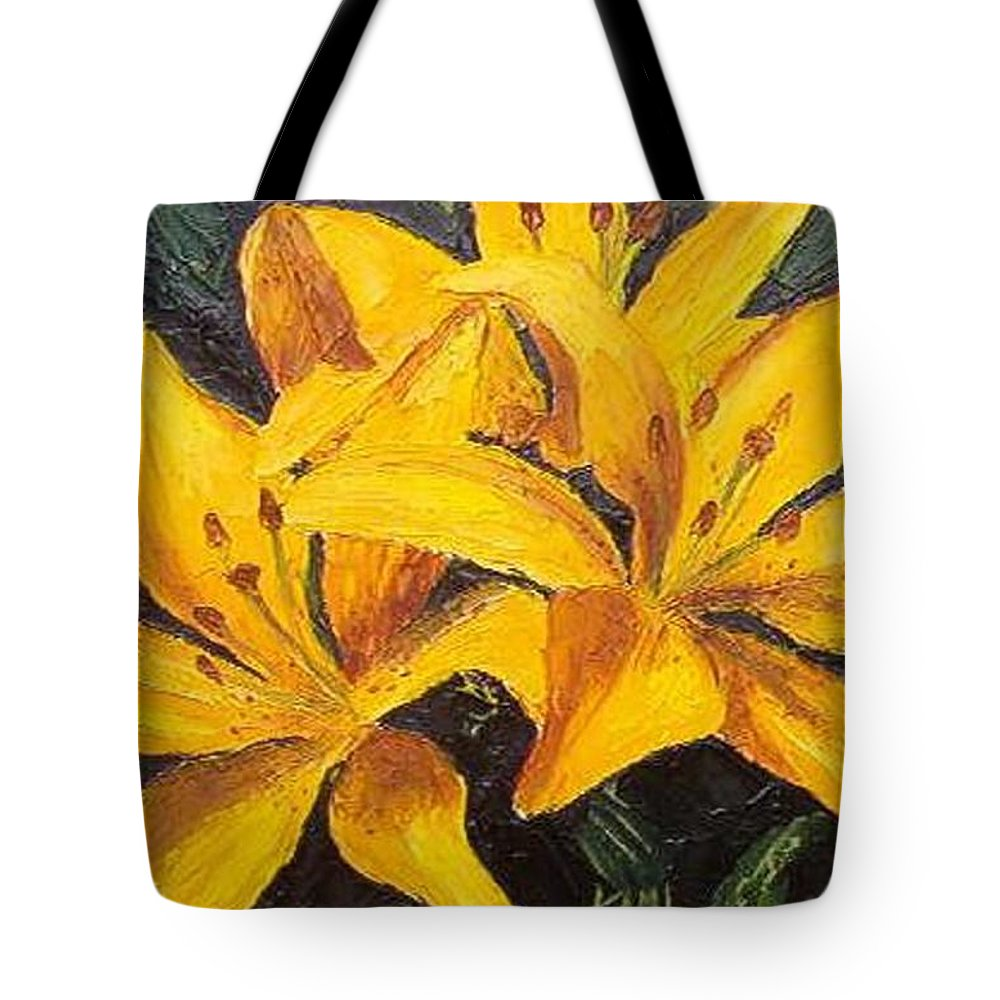 Tote Bag featuring the painting A Touch Of Gold by Tami Booher