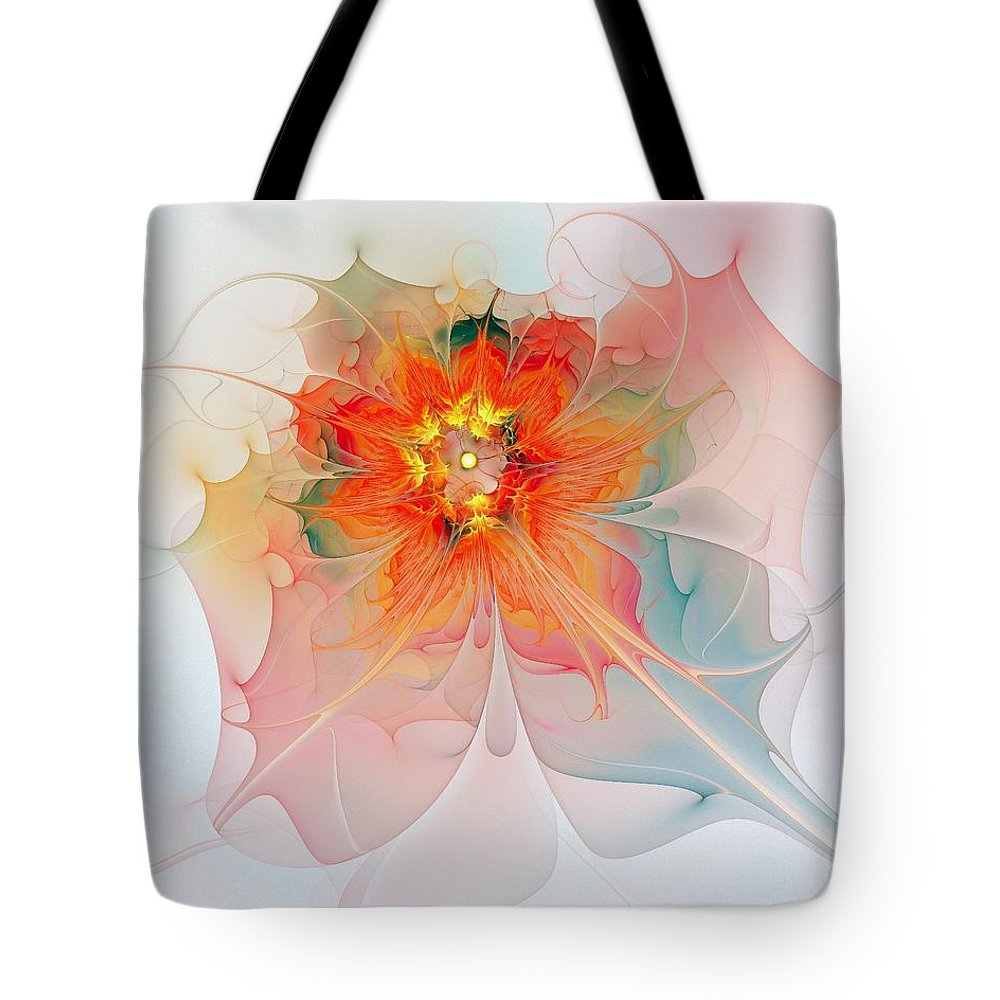 Digital Art Tote Bag featuring the digital art A Touch of Spring by Amanda Moore
