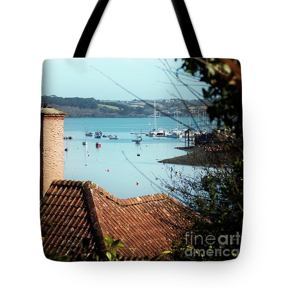 Mylor Tote Bag featuring the photograph A View Of Mylor Harbour by Terri Waters