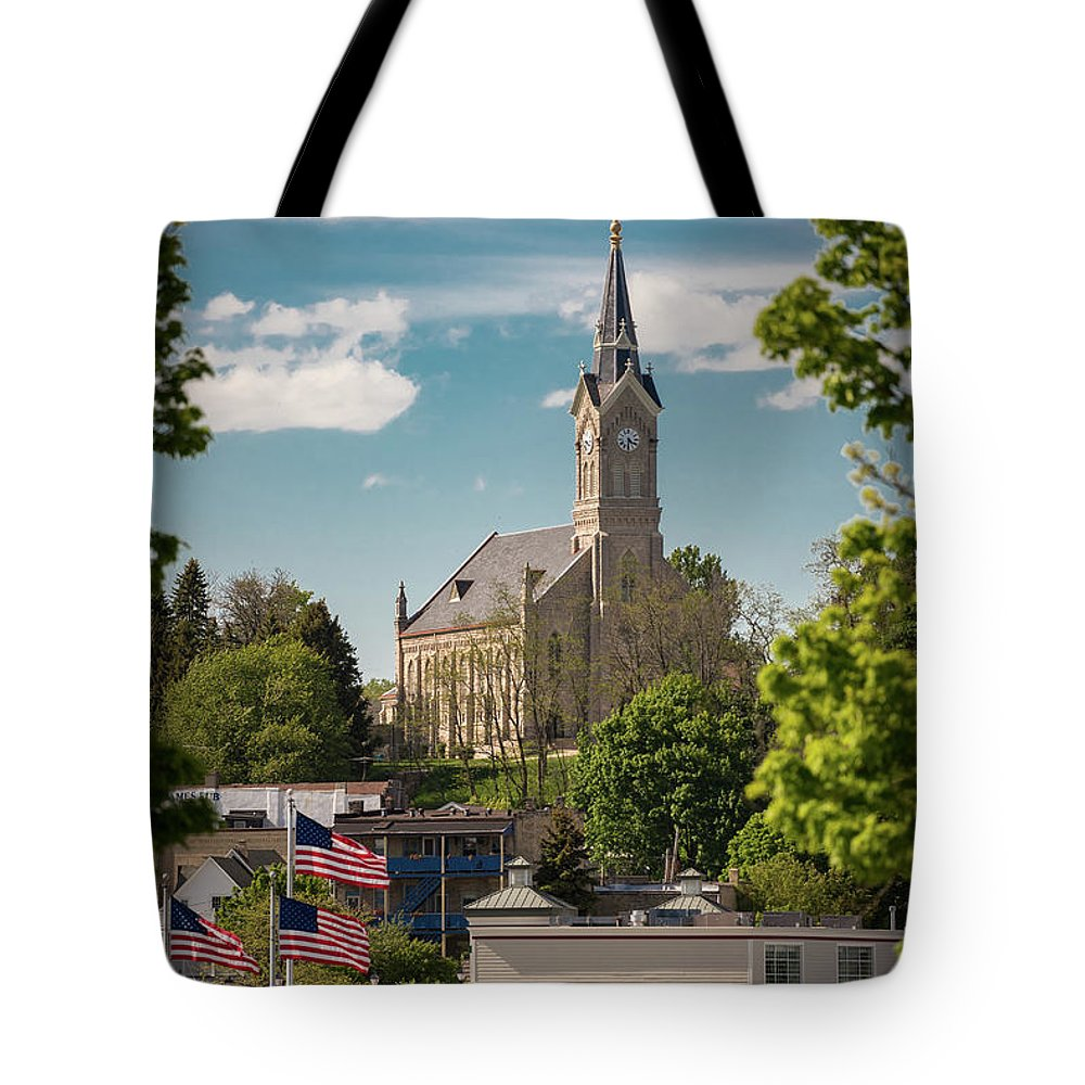 Church Tote Bag featuring the photograph A View Of St Mary's by James Meyer