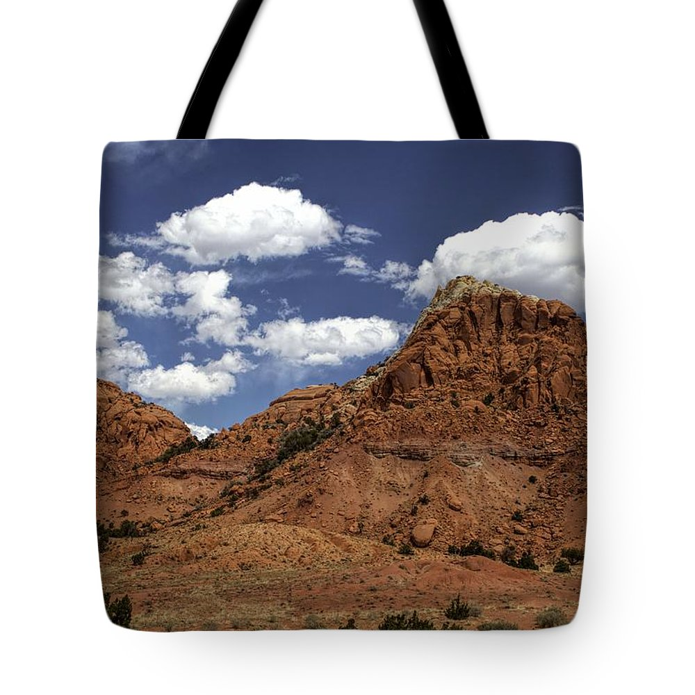 Ghost Ranch Tote Bag featuring the photograph A View With Some Room by Jim Buchanan