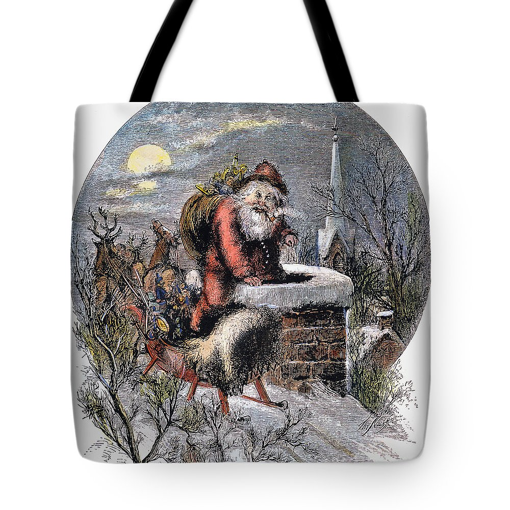 19th Century Tote Bag featuring the photograph A Visit From St Nicholas by Granger