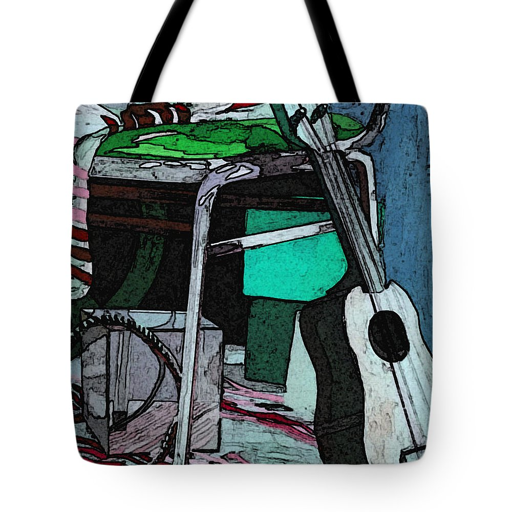 Andy Warhol Tote Bag featuring the painting A W by Japanese Artist