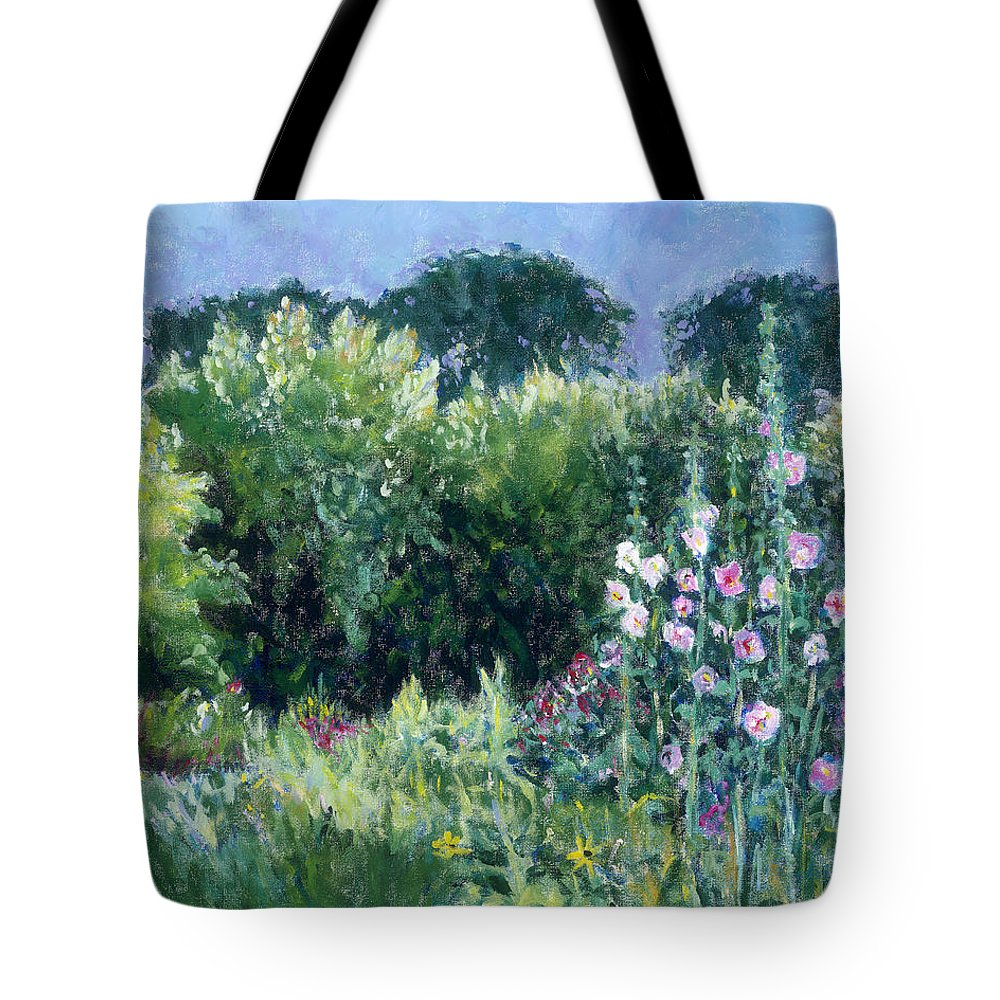 Monet Tote Bag featuring the painting A Walk In The Garden by Tara Moorman